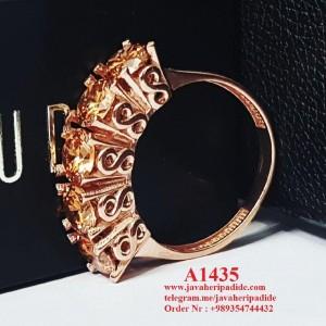 انگشتر نقره زنانه طلا زرد-تصویر 2