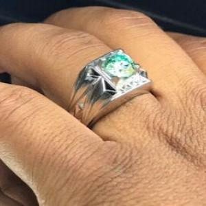 انگشتر موزانایت اصلی (الماس روسی)-تصویر 2