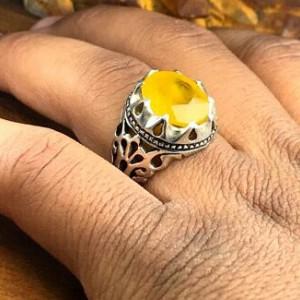 انگشتر یاقوت زرد اصلی آفریقایی-تصویر 2