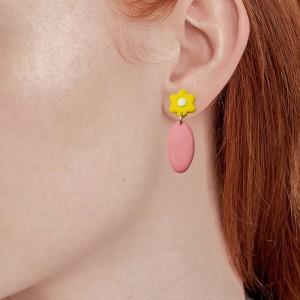 گوشواره گلدار میخی-تصویر 3