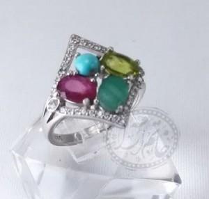انگشتر زنانه جواهری اصل ۴نگینه-تصویر 2