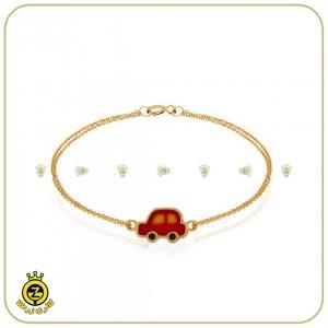 دستبند طلای کودکانه با طرح ماشین