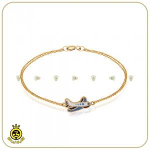 دستبند طلای کودکانه با طرح هواپیما