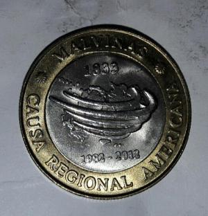 سکه ۲ پزو آرژانتین یادبودی-تصویر 2