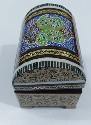 جعبه جواهرالات و زیورآلات خاتم کاری-تصویر 2
