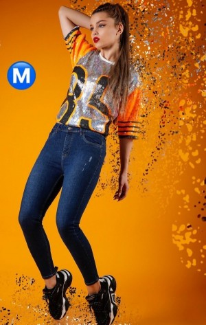 شلوار جین زنانه ترک MANGO