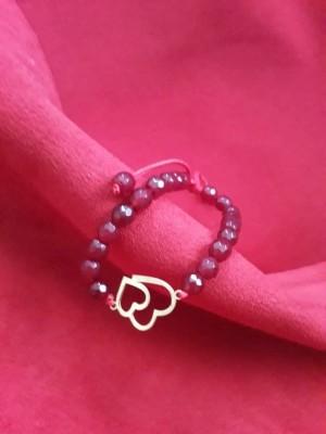 دستبند دو قلب (۱۰۰ سوتی ) طلا ۱۸ عیار-تصویر 3
