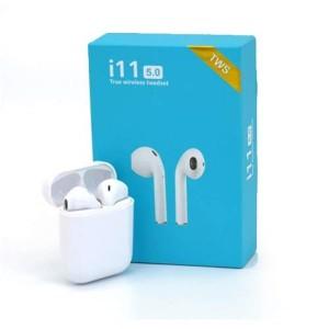 هندزفری بیسیم مدل i11 - TWS ( هدیه همراه کاور سیلیکونی ایرپاد )1