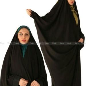 چادر عبایی مچ دار پارچه کرپ کره ای