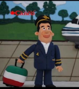 عروسک خمیری خلبان