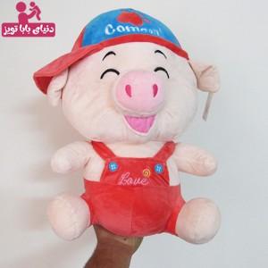 عروسک پولیشی خوک کام آن هندوانه ای رنگ 40 سانتی