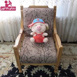 عروسک پولیشی خوک کام آن هندوانه ای رنگ 40 سانتی-تصویر 2
