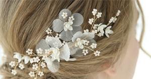 شانه با گل پارچه ای مروارید-تصویر 3