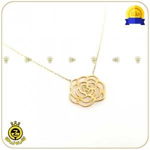 گردنبند طلا طرح گل کوچک-تصویر 2