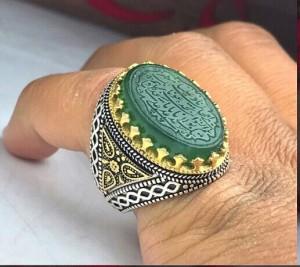 انگشتر یشم سبز اصلی-تصویر 2