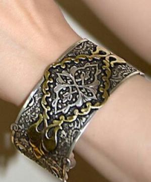 دستبند تمام دستساز نقره