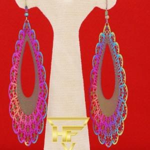 گوشواره استیل رنگین کمانی-تصویر 3