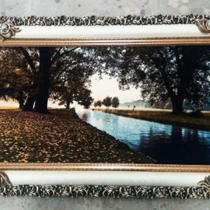 تابلو فرش جنگل و رودخانه-تصویر 3