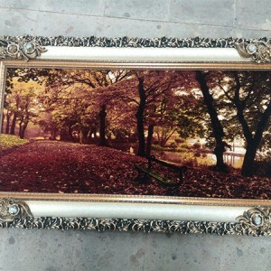 تابلو فرش جنگل پاییزی-تصویر 2