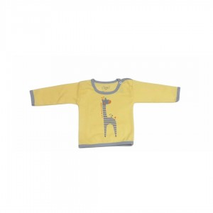 مدل اسپرت دخترانه، پسرانه زرد زرافه(یقه دکمه فلزی)-تصویر 3