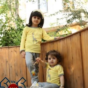 مدل اسپرت دخترانه، پسرانه زرد زرافه سایز ۱،۲،۳،(یقه دکمه)