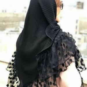روسری پلیسه حاشیه توپک کالکشن محرم-تصویر 2
