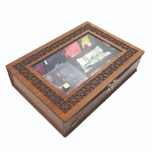 جعبه آجیل جعبه پذیرایی جعبه دمنوش جعبه خشکبار لوکس باکس کد LB19