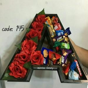 باکس گل حروف
