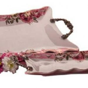 شیرینی خوری لبه گل دار رومنس