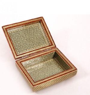 جعبه جواهرالات خاتم کاری هنر کده اصفهان