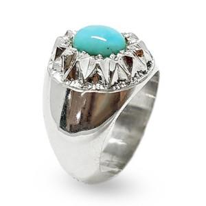 انگشتر نقره مردانه فیروزه نیشابور عجمی زیبا کد R22