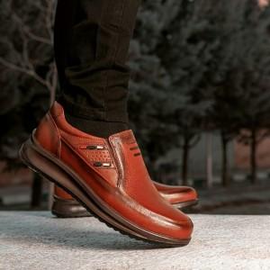 کفش تمام چرم گاوی مدل سناتور بی بند مردانه-تصویر 3