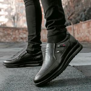 کفش تمام چرم گاوی مدل سناتور بی بند مردانه-تصویر 5