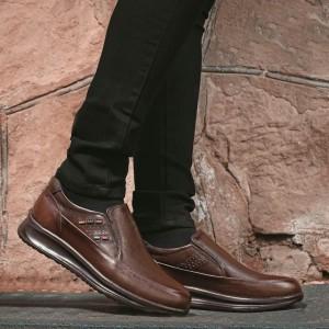 کفش تمام چرم گاوی مدل سناتور بی بند مردانه-تصویر 4