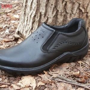 کفش چرم طبی فرزین مدل کلارک بدون بند(کشی)-تصویر 5