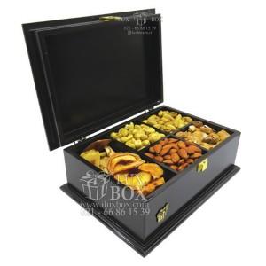جعبه آجیل خشکبار جعبه دمنوش جعبه پذیرایی چوبی لوکس باکس کد LB 103 - B-تصویر 3