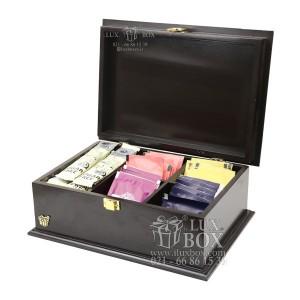 جعبه آجیل خشکبار جعبه دمنوش جعبه پذیرایی چوبی لوکس باکس کد LB 103 - B-تصویر 2