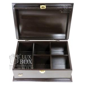 جعبه آجیل خشکبار جعبه دمنوش جعبه پذیرایی چوبی لوکس باکس کد LB 103 - B-تصویر 4
