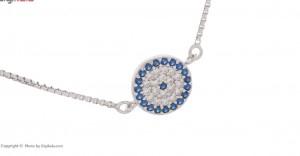 دستبند نقره زنانه طرح چشم نظر کد۷۷۲۲۷D-تصویر 2