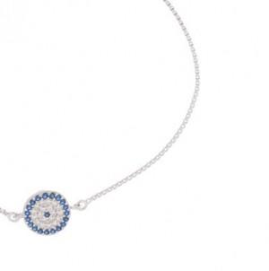 دستبند نقره زنانه طرح چشم نظر کد۷۷۲۲۷D-تصویر 5