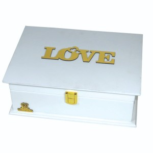 جعبه کادو ولنتاین هدیه باکس گل چوبی لوکس باکس کد LB272-تصویر 3