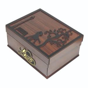 جعبه کادو ولنتاین هدیه باکس گل چوبی لوکس باکس کد LB271-تصویر 4