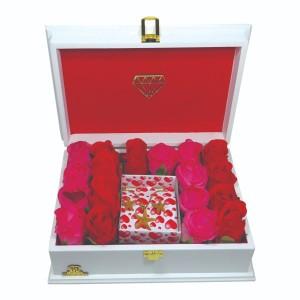 جعبه کادو ولنتاین هدیه باکس گل چوبی لوکس باکس کد LB272