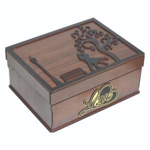 جعبه کادو ولنتاین هدیه باکس گل چوبی لوکس باکس کد LB271-تصویر 5
