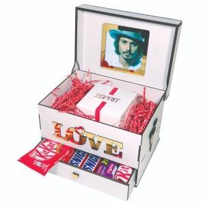 جعبه کادو ولنتاین هدیه باکس گل چوبی لوکس باکس مدل عشق  کد LB262-تصویر 5