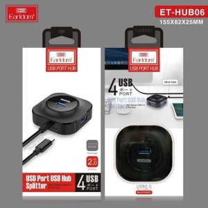 مبدل هاب یو اس بی و شارژر Earldom socket supports 4 USB   HUB-06-تصویر 2