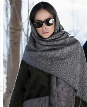 شال روسری طرح هفتی هشتی تارتن