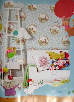 کاغذ دیواری اتاق کودک هپی گیرل کد ۷۶۸۵۸