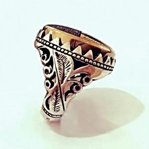 انگشتر حدید صینی هفت جلاله فاخر طلاکوبی فوق العاده و پر خواص-تصویر 2