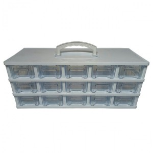 جعبه کشویی قطعات سایز کوچک، ۳ طبقه-تصویر 3